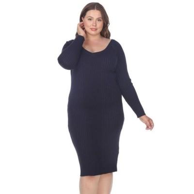 ホワイトマーク レディース ワンピース トップス Women's Plus Size Destiny Sweater Dress