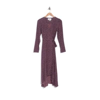 バッシュ レディース ワンピース トップス Gin Long Sleeve Wrap Midi Dress RED