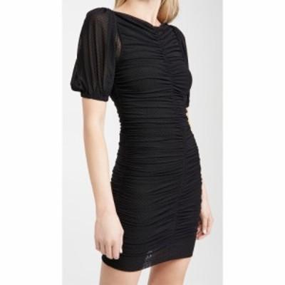 ガニー GANNI レディース ワンピース ワンピース・ドレス Dotted Mesh Dress Black