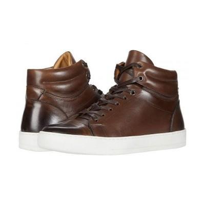 eleventy メンズ 男性用 シューズ 靴 スニーカー 運動靴 Burnish Finish High-Top Sneaker - Brown