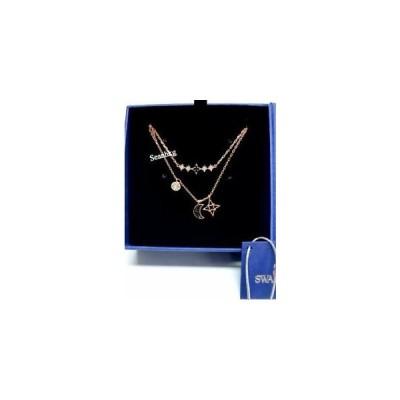 スワロフスキー Swarovski ネックレス おしゃれ 限定 レア  Glowing Moon Necklace, Black, Crystal Authentic MIB 5273290