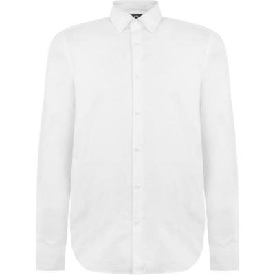 ヒューゴ ボス BOSS メンズ シャツ トップス elliot oxford shirt White