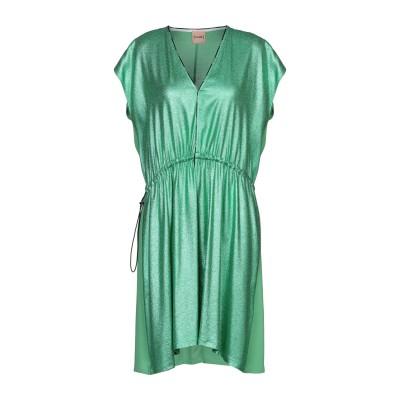ヌード NUDE ミニワンピース&ドレス グリーン 44 レーヨン 100% ミニワンピース&ドレス