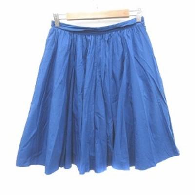 【中古】マカフィー MACPHEE トゥモローランド フレアスカート ひざ丈 チュール付き 38 青 ブルー /CT レディース