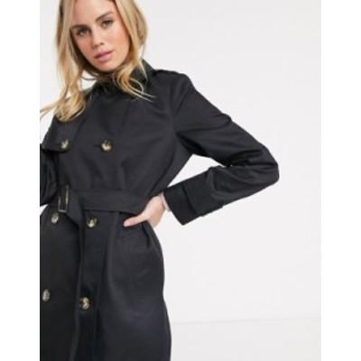 エイソス レディース コート アウター ASOS DESIGN trench coat in black Black