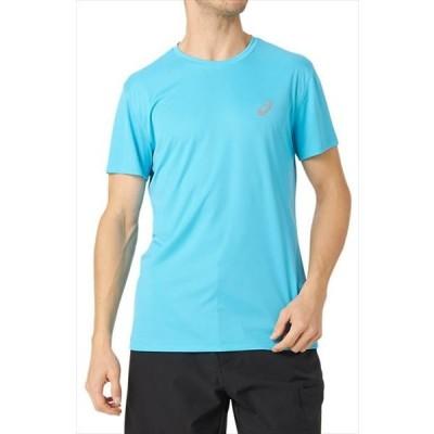 【1枚までメール便可】 [asics]アシックス ランニングウェア 半袖シャツ (2011A069)(403) アクア[取寄商品]