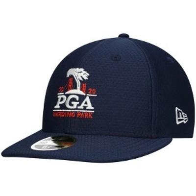 ニューエラ メンズ 帽子 アクセサリー 2020 PGA Championship New Era Hex Tech Low Profile 59FIFTY Fitted Hat Navy