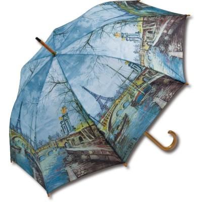インテリア小物 名画木製ジャンプ傘(ジョルジュ B. 「エッフェル塔」)
