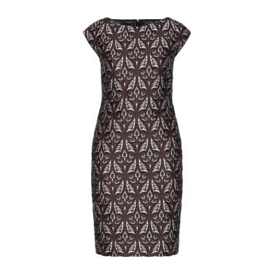 レ コパン LES COPAINS ミニワンピース&ドレス ダークブラウン 40 レーヨン 60% / コットン 40% ミニワンピース&ドレス