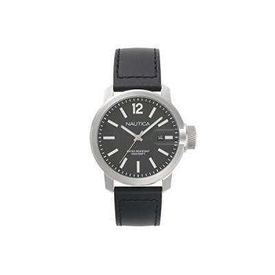 Nautica Mens Analogue Quartz Watch with Leather Strap NAPSYD002 並行輸入品