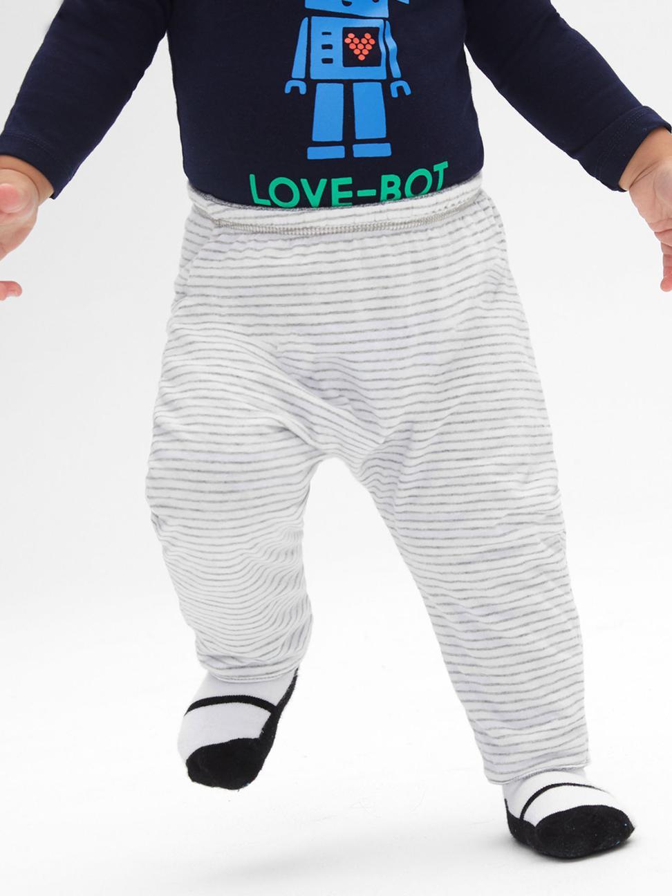 嬰兒 柔軟舒適正反兩穿鬆緊長褲