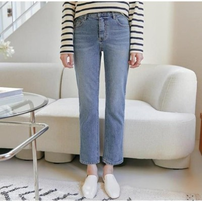 common unique レディース ジーンズ Whiskered Ankle Grazer Jeans