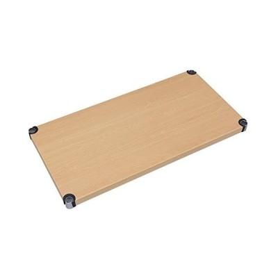 アイリスオーヤマ ラック メタルラック パーツ 棚板 ウッディ 幅91×奥行46×高さ4cm ポール径25mm (ベージュ 幅91cm)