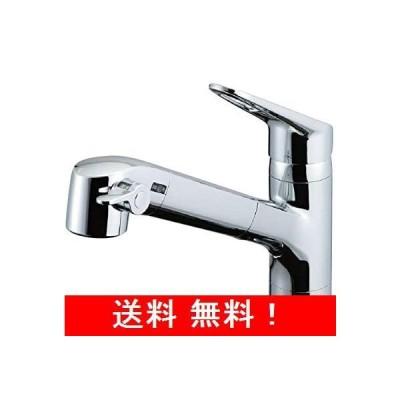 LIXIL(リクシル) INAX キッチン用 台付 浄水器内蔵シングルレバー混合水栓 エコハンドル 浄水 微細シャワー整流 ホース引出し RJF-7