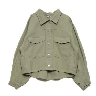 スタイルブロック STYLEBLOCK ボリューム袖CPOショートジャケット (スモーキーグリーン)