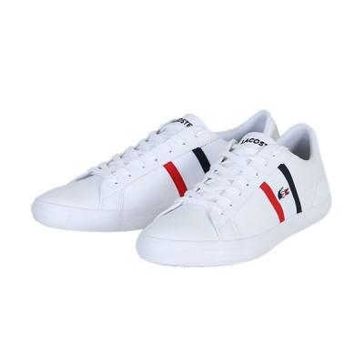 ラコステ(LACOSTE) メンズ スニーカー レロンド LEROND TRI 1 ホワイト/ネイビー/レッド CMA044L 407 タウンユース ローカット レザー ワニ シューズ 靴
