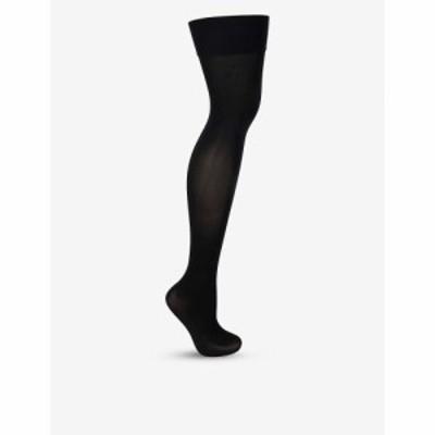 ウォルフォード WOLFORD レディース ソックス インナー・下着 Velvet 80 over the knee socks Black
