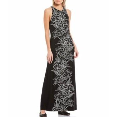 トッミーバハマ レディース ワンピース トップス Midnight Bloom Maxi Dress Black