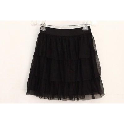LITIRA ティアードスカート チュール  1 ブラック