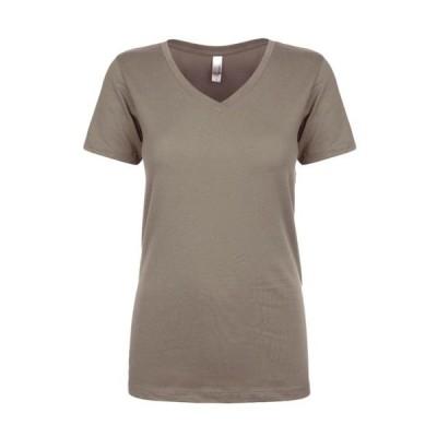 ベビー 衣類 トップス Next Level Women's 1x1 Baby Rib Collar Ideal V-Neck T-Shirt Style NL1540 Tシャツ