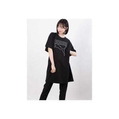 プーマ PUMA レディース 半袖Tシャツ REBEL Tシャツ ドレス 588843 (ブラック)