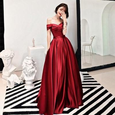 ロングドレス 結婚式 ウェディングドレス Aライン カラードレス パーティードレス 大きいサイズ 演奏会 お花嫁ドレス 姫系 二次会ドレス イブニングドレス