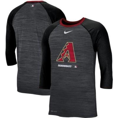 ナイキ メンズ Tシャツ トップス Arizona Diamondbacks Nike Velocity 3/4-Sleeve Raglan T-Shirt