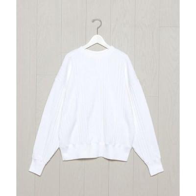 tシャツ Tシャツ <H>HEAVY RANDOM RIB CREW NECK PULLOVER/カットソー