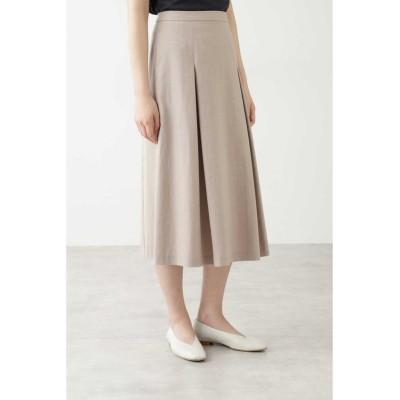 【ヒューマンウーマン】 ◆セルロース綿/PE麻ツイルスカート レディース グレージュ2 S HUMAN WOMAN