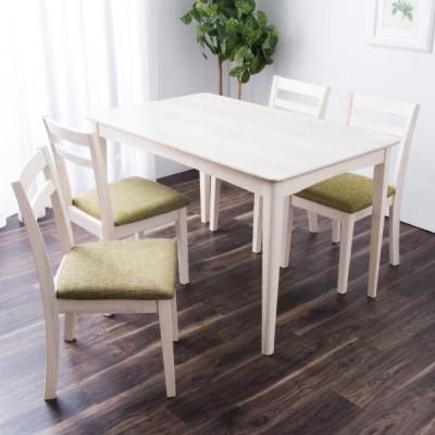 モダンダイニングテーブル+イス セット 120×75cm(オーク WW) ニトリ 『玄関先迄納品』 『1年保証』