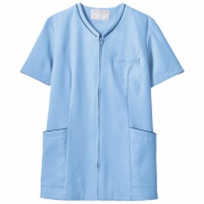 住商モンブラン住商モンブラン レディスジャケット 半袖 ブルー/ネイビー LL 73-2074(直送品)