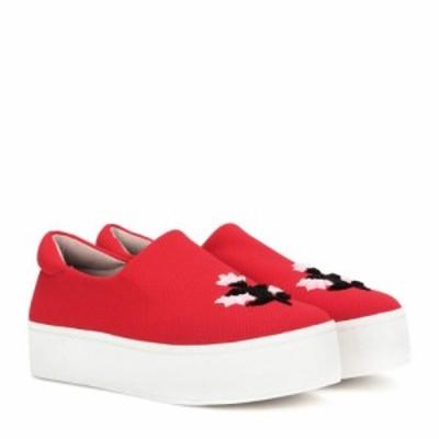オープニングセレモニー Opening Ceremony レディース スリッポン・フラット シューズ・靴 Cici platform slip-on sneakers Blaze Red