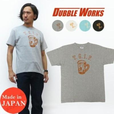 ダブルワークス DUBBLE WORKS プリント 半袖 Tシャツ T.G.I.F. クルーネック WW33005