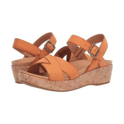 Kork-Ease コークイーズ レディース 女性用 シューズ 靴 ヒール Myrna 2.0 - Orange Full Grain Leather