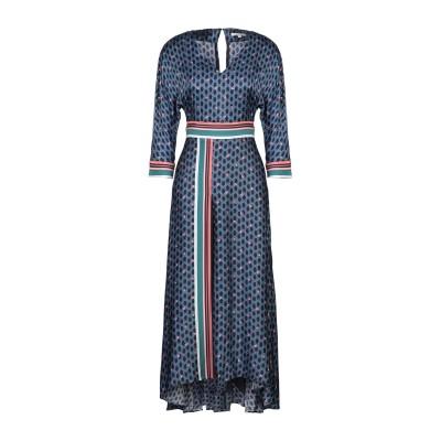MAJE 7分丈ワンピース・ドレス ブルー 1 レーヨン 100% 7分丈ワンピース・ドレス
