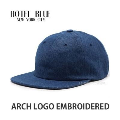 ホテル ブルー HOTEL BLUE ARCH LOGO EMBROIDERED スケートボード スケボー キャップ 帽子 ストリート カラー:BLUE DENIM サイズ:OS