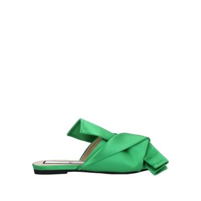 ヌメロ ヴェントゥーノ N°21 サンダル エメラルドグリーン 36 紡績繊維 サンダル