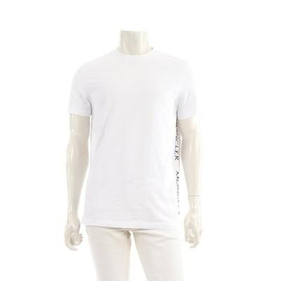 モンクレール MONCLER Tシャツ カットソー 白 黒 20SS 8C720 メンズ 中古
