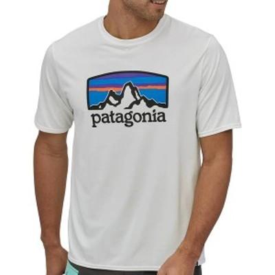パタゴニア メンズ シャツ トップス Patagonia Men's Capilene Cool Daily Graphic Shirt Fitz Roy Horizons/White