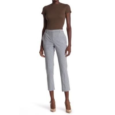 セオリー レディース カジュアルパンツ ボトムス Check Print Cropped Pants BLUE MULTI