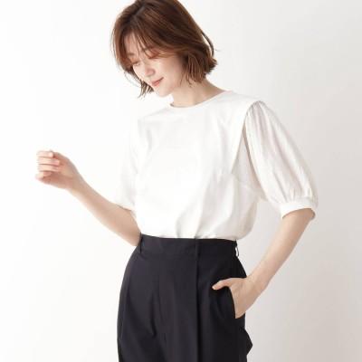 シューラルー SHOO-LA-RUE 袖切替Tシャツ (オフホワイト)