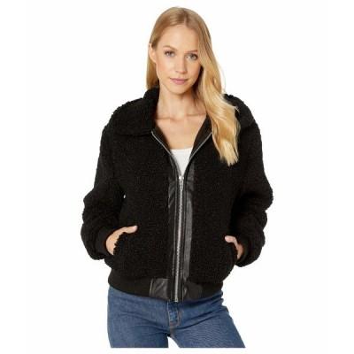ブランクニューヨーク コート アウター レディース Sherpa Crop Jacket with Faux Leather Center Poppy