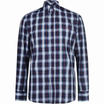 ピエール カルダン Pierre Cardin メンズ シャツ トップス Long Sleeve Check Shirt Navy/Red/Grn