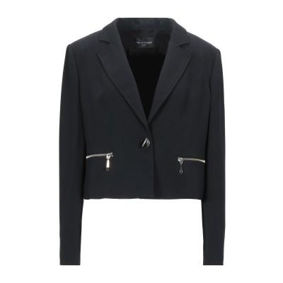 MARIA GRAZIA SEVERI テーラードジャケット ブラック 48 レーヨン 67% / アセテート 31% / ポリウレタン 2% テー