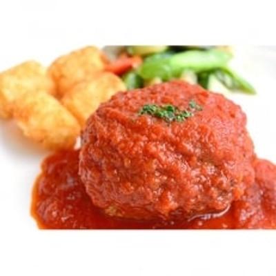 【創業50年の街の洋食屋さん】国産牛と国産豚のハンバーグ5個 自家製トマトソース付