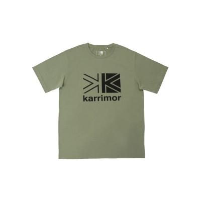 カリマー半袖Tシャツ ビッグ ロゴ 3T01MBJ2 Light KhakiカーキM