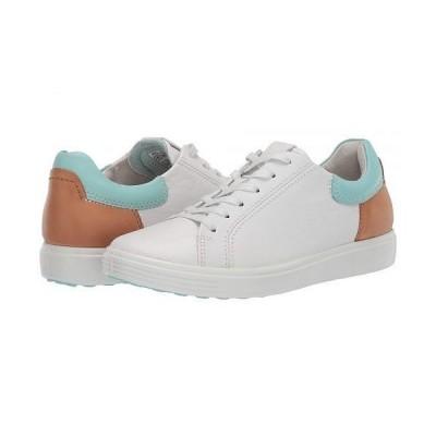 ECCO エコー レディース 女性用 シューズ 靴 スニーカー 運動靴 Soft 7 Street Sneaker - White/Eggshell Blue/Lion Cow Leather/Cow Leather/Cow Nubuck
