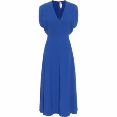 ヴィクトリア ベッカム Victoria Beckham レディース パーティードレス ミドル丈 ワンピース・ドレス cady midi dress Bright Blue