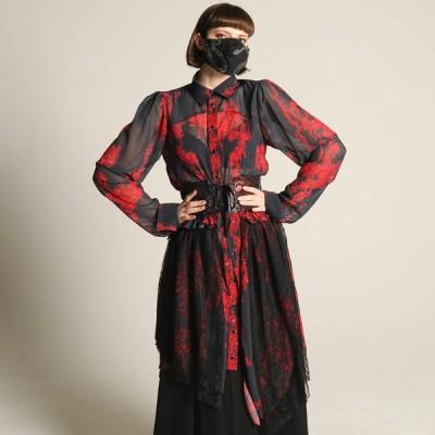 h.NAOTO コルセット ベルト 血の薔薇 ゴシック ゴスロリ モード Blood rose Dragon Leather corset