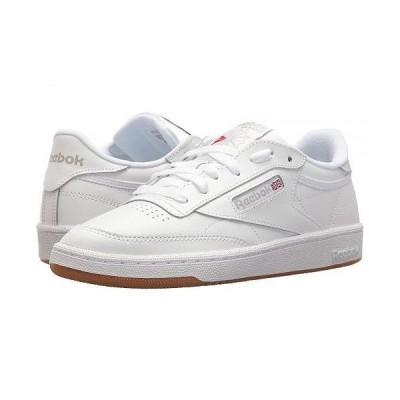 Reebok Lifestyle リーボック レディース 女性用 シューズ 靴 スニーカー 運動靴 Club C 85 - White/Light Grey/Gum